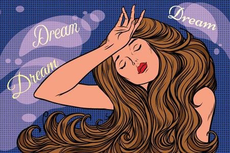 night dream of a beautiful woman