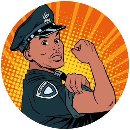 우리는 흑인 경찰관 아프리카 계 미국인 팝 아트 아바타 차를 할 수있다.