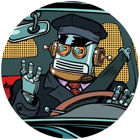 ドライバ ロボット無人機ポップアート アバター文字アイコン