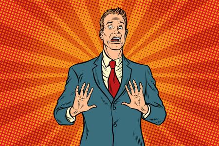 Scared male businessman Illustration