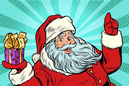선물 산타 클로스입니다. 새해와 크리스마스