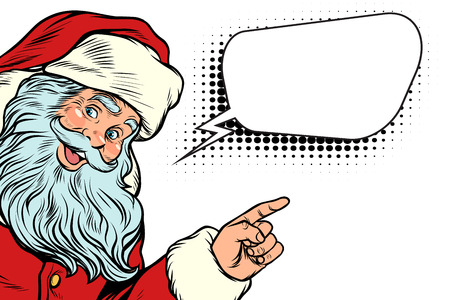 Santa Claus and word cloud Ilustrace