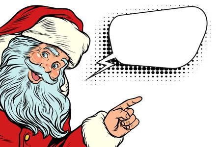 Weihnachtsmann und Wortwolke Standard-Bild - 86620858