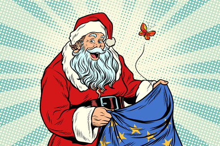 Joyful Santa Claus without gifts