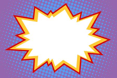 Een komische witte explosie. Pop-art retro vectorillustrator