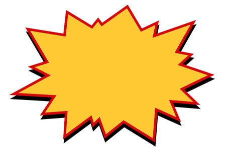 Komiczny żółty wybuch Ilustracje wektorowe
