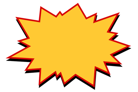 Komische gele burst Stockfoto - 88285572
