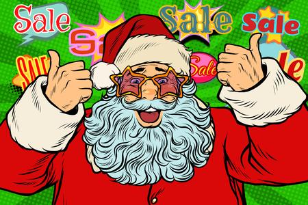 Santa Claus in the star glasses