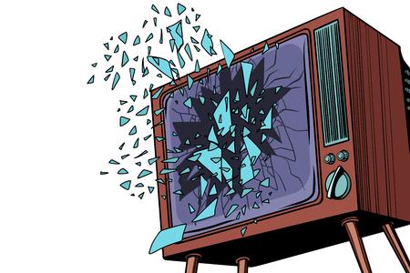Telewizor eksploduje, zepsuty ekran