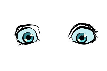 funny cartoon eyes. Pop art retro vector illustration