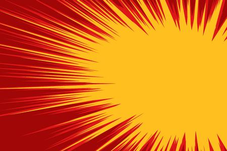赤黄色爆発コミック