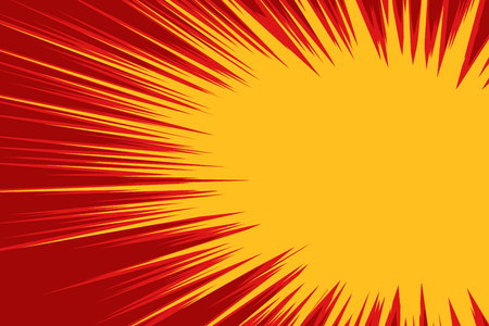 Red yellow explosion comic
