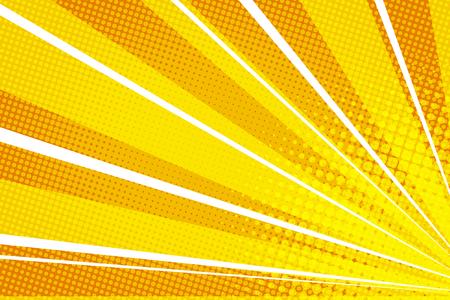 黄色オレンジ pop アート線日の出