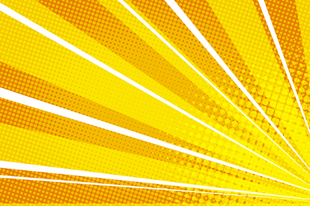 Yellow orange pop art rays sunrise