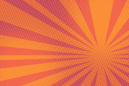 Red pop art rays sunrise Illustration