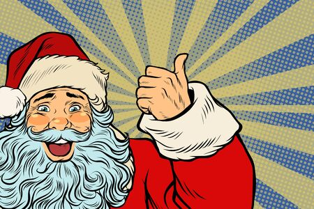 Closeup of Santa Claus thumbs up Stock Photo