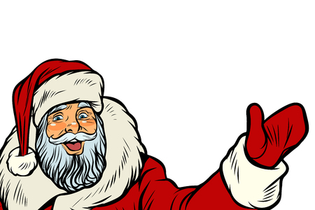 Santa Claus on white illustration.