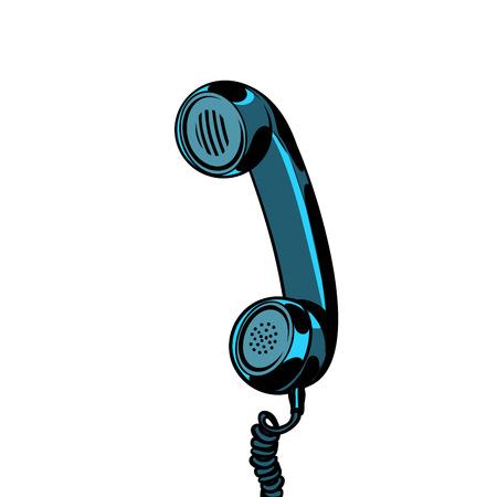 retro telephone tube isolated on white background