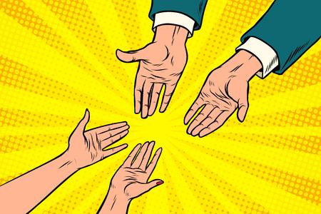 ビジネスマンと女性、恋にカップル  イラスト・ベクター素材