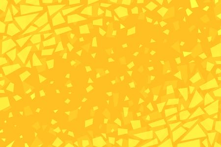 ひび割れた黄色の背景  イラスト・ベクター素材