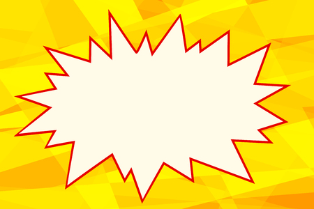 yellow pop art background comics bubble retro vector illustration Illustration