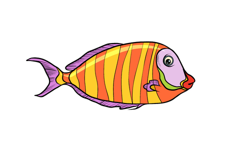 Geïsoleerde cichlid aquariumvissen
