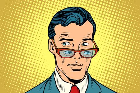 더블 뷰, 안경에있는 남자 일러스트