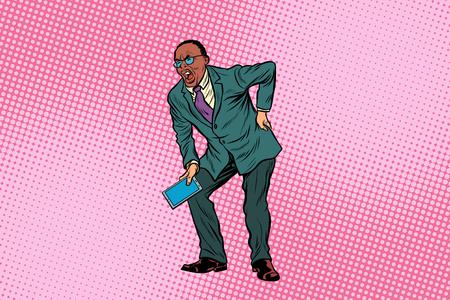 Mannelijke rugpijn. Afro-Amerikaanse mensen