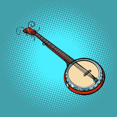 banjo musical instrument. Pop art retro vector illustration comic cartoon hand drawing