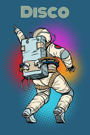 Astronaut dancing disco Reklamní fotografie - 94857338