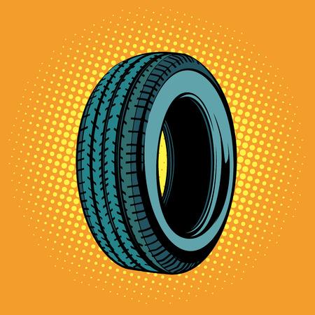 car tire one. Pop art retro vector illustration comic cartoon kitsch drawing