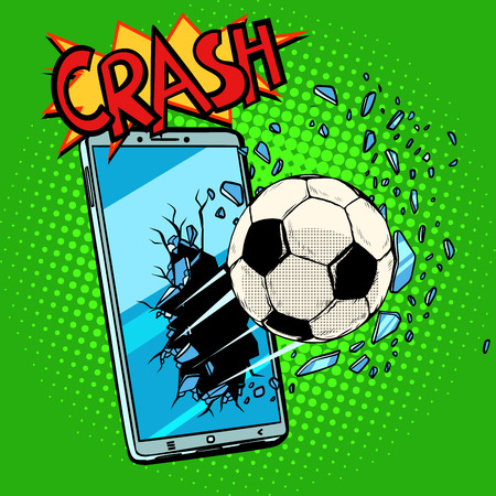 online sports betting and broadcasting socker concept. Pop art retro vector illustration comic cartoon kitsch drawing