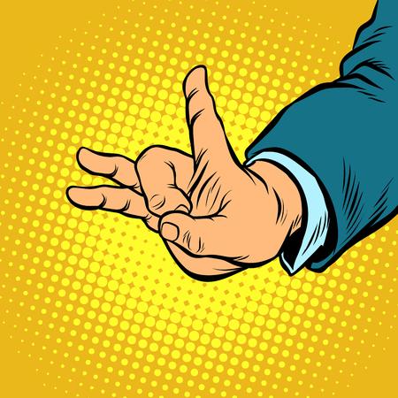 flick gesture fingers Illustration