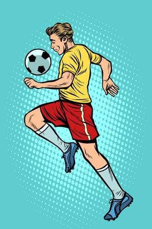 Retro football player with a soccer ball Zdjęcie Seryjne - 102003896