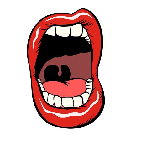 open mouth with teeth isolate on white background Archivio Fotografico - 102273910