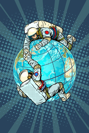 International space cooperation concept