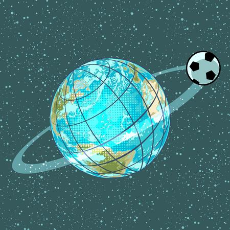 football soccer ball planet earth championship Vetores