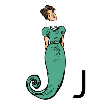 letter J jay jy. Business people silhouette alphabet