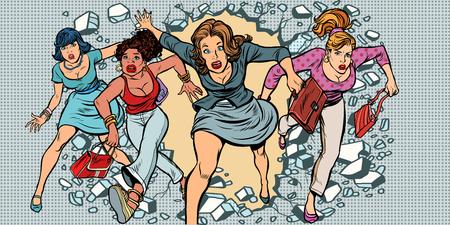 The breakdown of stereotypes, womens power Stock Illustratie