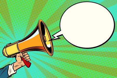megaphone and comic bubble Reklamní fotografie - 103069288