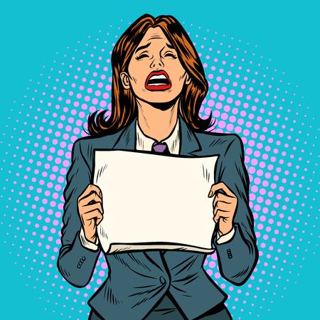 woman crying blank Board