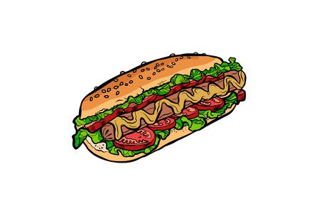 hot dog isolated on white background Standard-Bild - 103637327