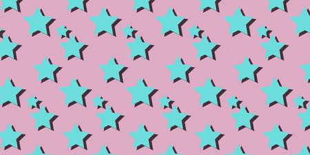 stars pink background. Pop art retro vector illustration kitsch vintage drawing Illustration