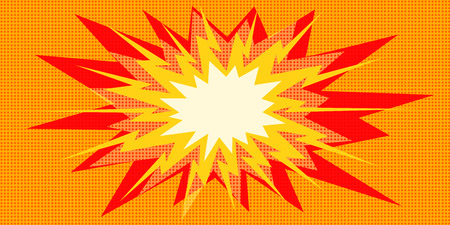 pop art explosion red yellow in the centre. Pop art retro vector illustration vintage kitsch drawing