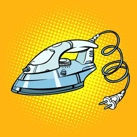 fer à repasser, électroménager. Pop art rétro vector illustration kitsch vintage