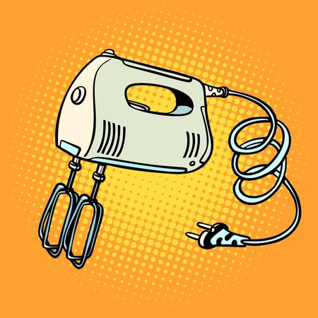Hand mixer, kitchen equipment. Pop art retro vector illustration vintage kitsch 일러스트