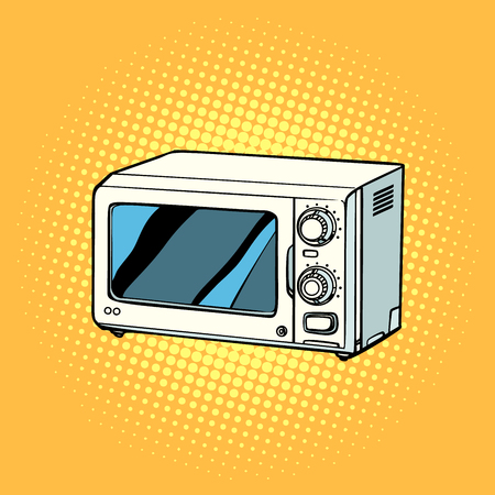 microwave oven, kitchen equipment Stock Photo
