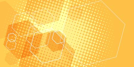 orange scientific background. Pop art retro vector illustration vintage kitsch