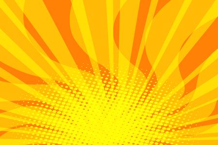 yellow Sunny pop art background. retro vector illustration vintage kitsch