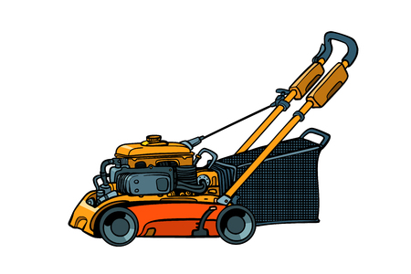 lawnmower mower lawn mower trimmer. isolate on white background Illustration